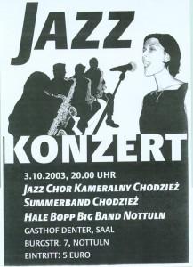 Gemeinsames Konzert mit dem Jazz Chor aus der Stadt Chodziez